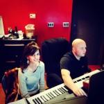 With Sound engineer Brett Ensley