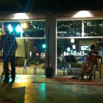Live cello and art with my brother, Mark